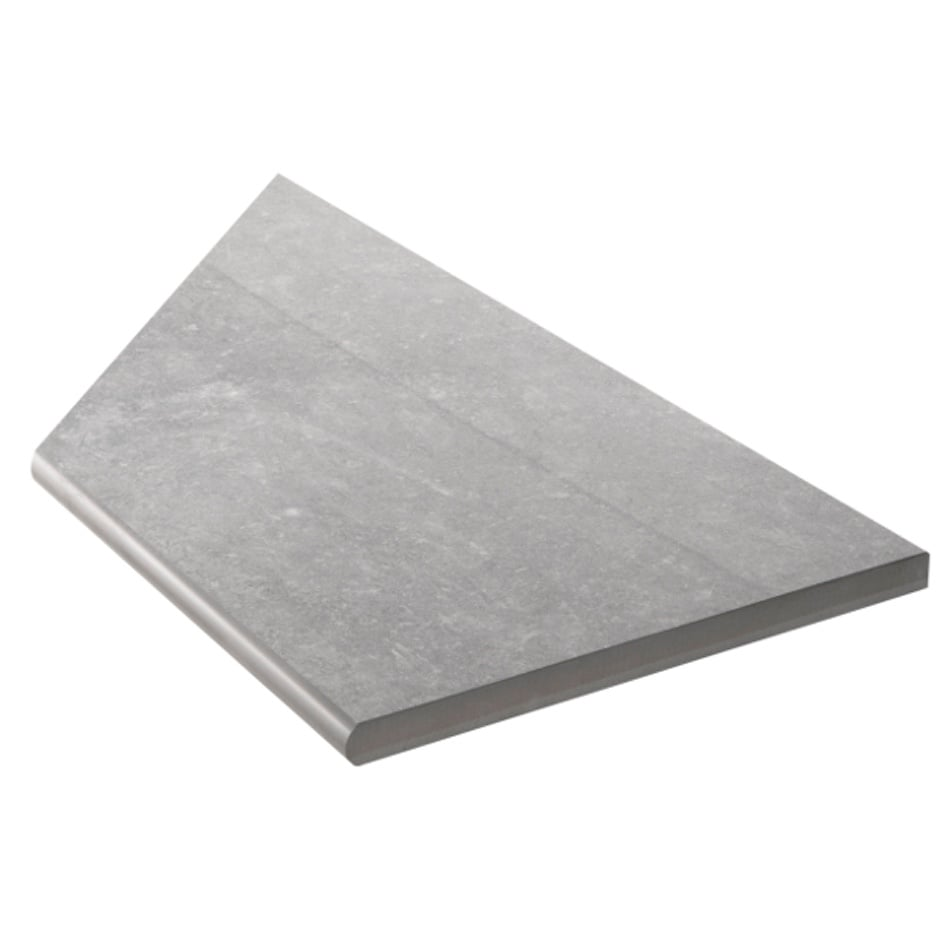 Bricmate Limestone Grey Inner Corner Right 297x596 mm