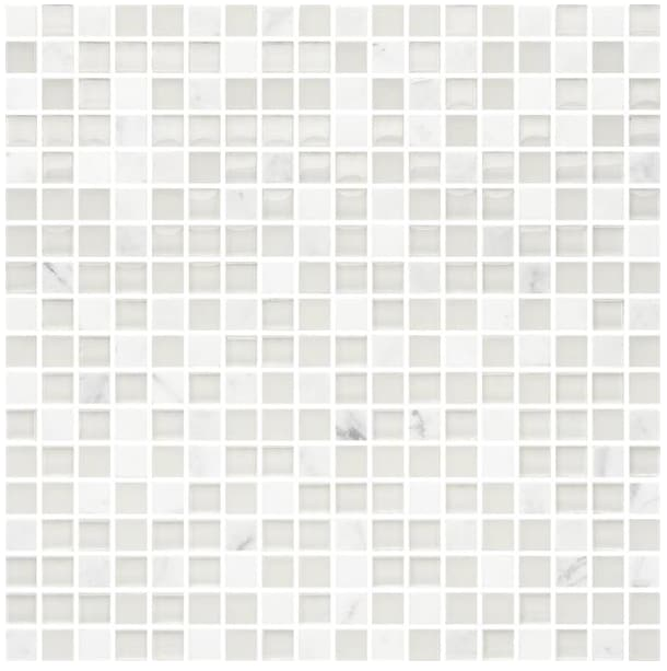 Bricmate White Mix Carrara 15x15
