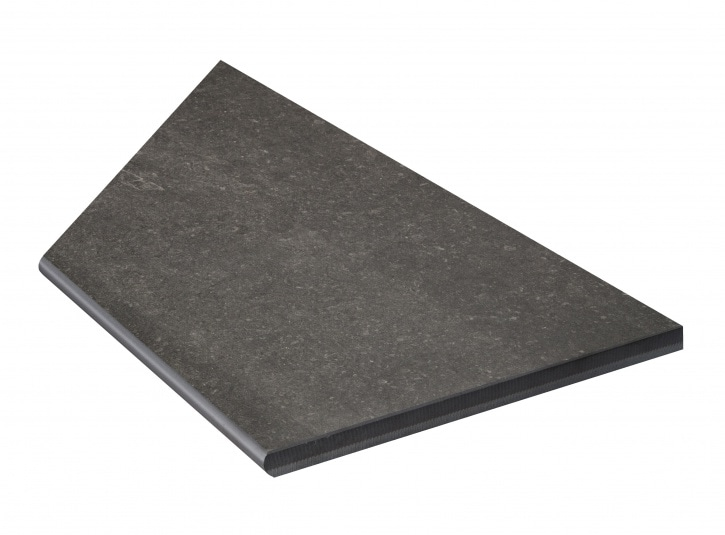 Bricmate Limestone Anthracite Inner Corner Right 297x596 mm