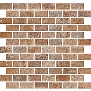 CC Höganäs Cotto Med Cannela Mosaico Brick Matt (ark 300x300x10 mm)