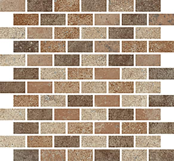 CC Höganäs Cotto Med Curry Mosaico Brick Matt (ark 300x300x10 mm)