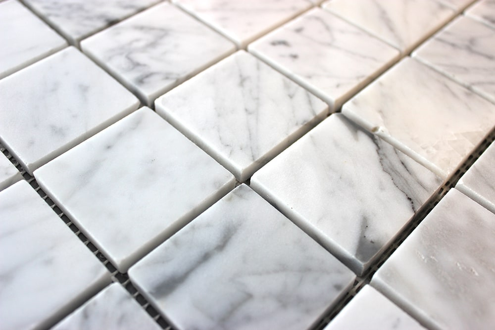 Collection Carrara Mosaik White Marble äkta natursten 45x45x8 mm (ark 30x30 cm)