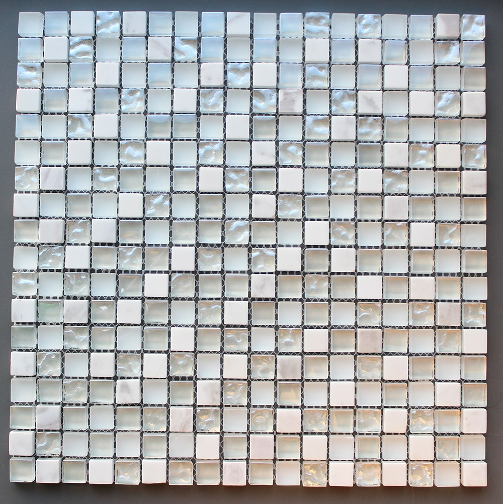 Collection Mixmosaik North White 15x15x8 mm (ark 30x30 cm)