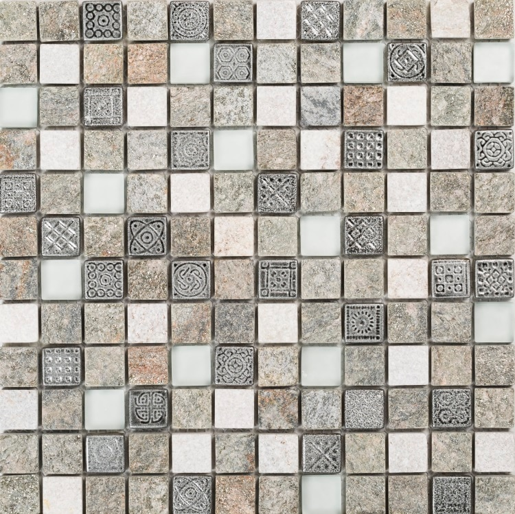 Collection Mosaik Inka Mix Grey Stone 23x23x8 mm (30x30 cm)