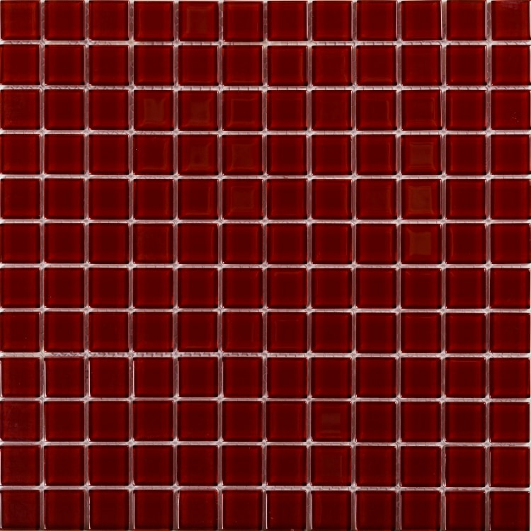 Collection Mosaik Pure Glass Röd 23x23 mm (298x298 mm)