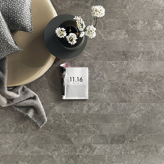 Hero Italian Stone Sandy Grey Soft matt 9,5x54 cm