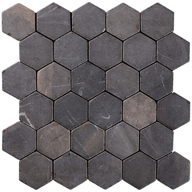 Konradssons Indostone hexagon gråsvart 6x6cm