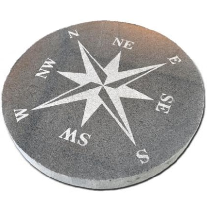 KOMPASSROS GREY STAR 500x500x50mm