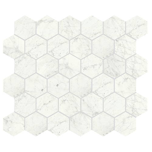 Konradssons Marmi Cararra Naturale matt Hexagon (ark 26,7x29,3 cm)