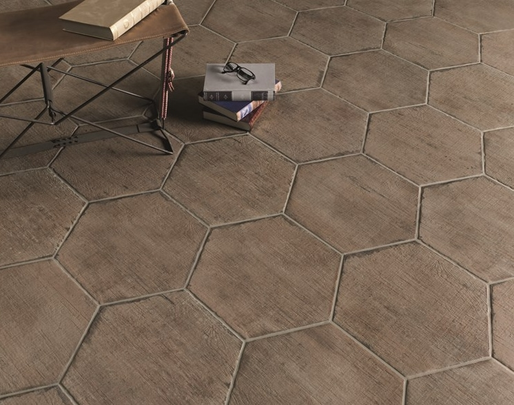 Konradssons Retro Terra Brun Hexagon