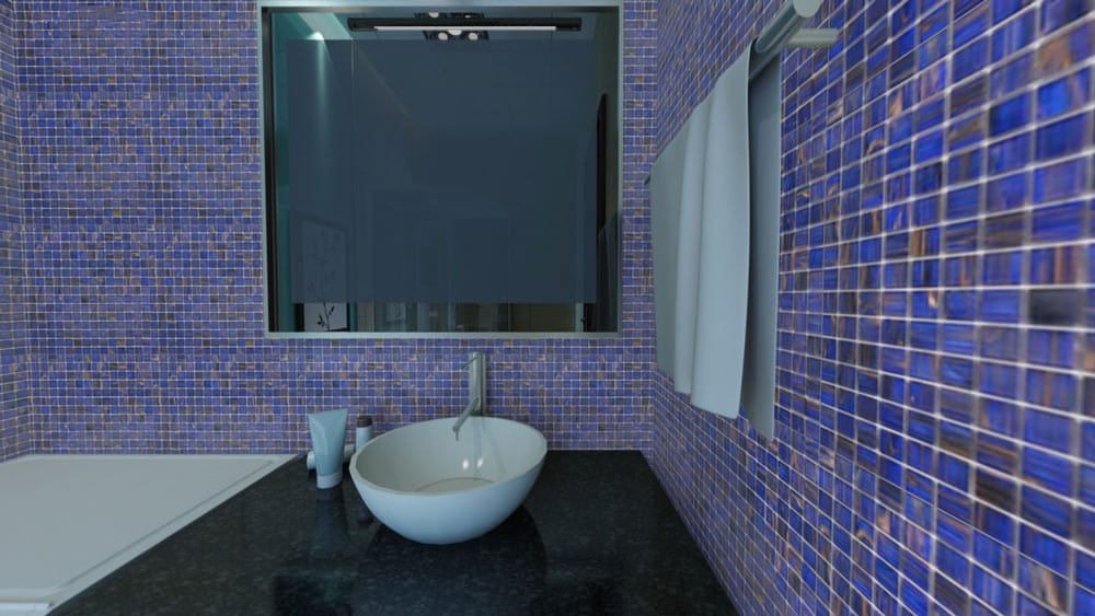 Tilemaster Glasmosaik Blue Gold 32,7x32,7