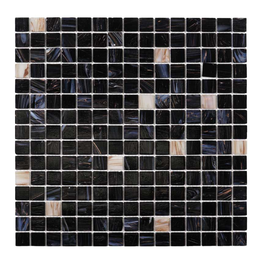 Tilemaster Glasmosaik Dark Heaven White Gold 32,7x32,7