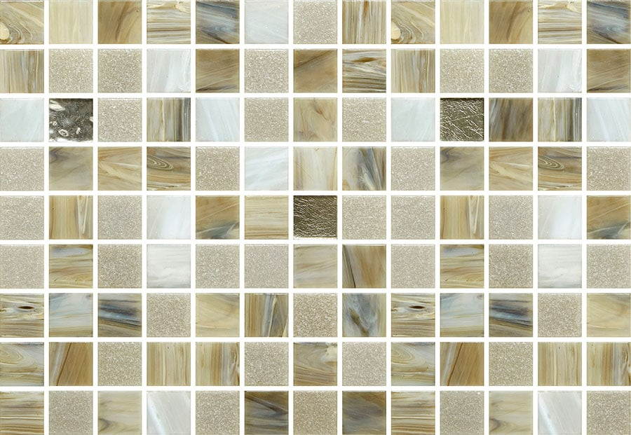 Mosaic Sweden A1237 Mix Beige Grå 20x20 mm