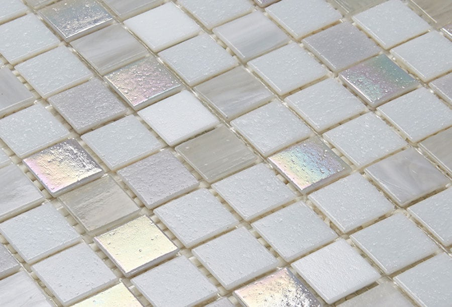 Mosaic Sweden A1235 Mix Vit Ljusgrå 20x20 mm