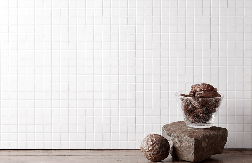 Mosaic Sweden A0001 Vit 20x20 mm