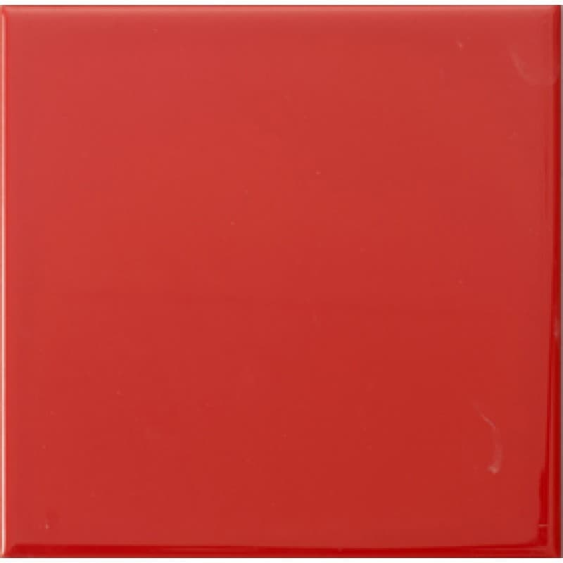 Arredo Kakel Color Rojo Liso Brillo Blank 150x150 mm