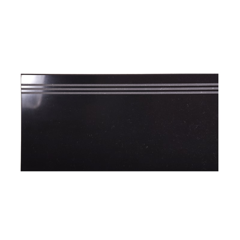 Arredo Klinker Fojs Collection Black glossy trappsteg/trappnos 298x600 mm