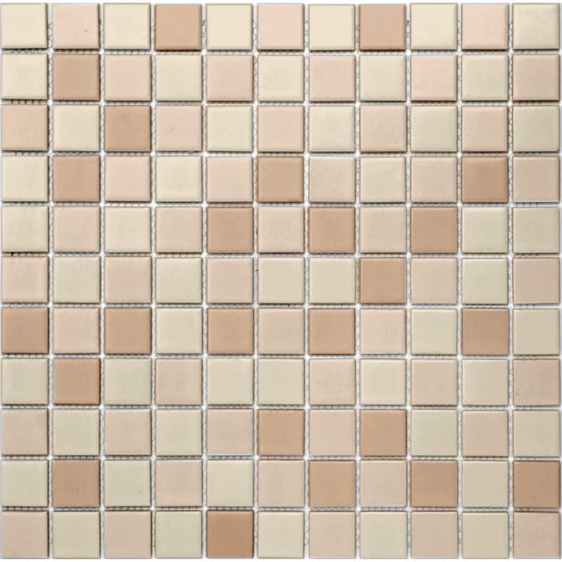 Arredo Klinkermosaik Titan Mix Beige Matt 25x25 mm (300x300)