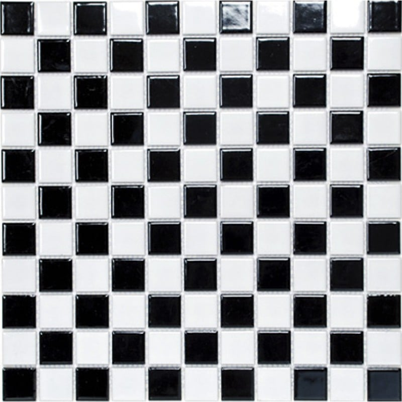 Arredo Klinkermosaik Titan Mix Black/White Blank 25x25 mm (300x300)