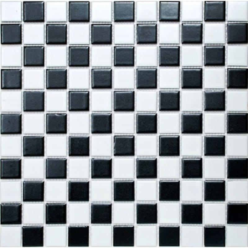 Arredo Klinkermosaik Titan Mix Black/White Matt 25x25 mm (300x300)