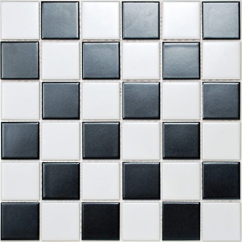 Arredo Klinkermosaik Titan Mix Black/White Matt 48x48 mm (303x303)