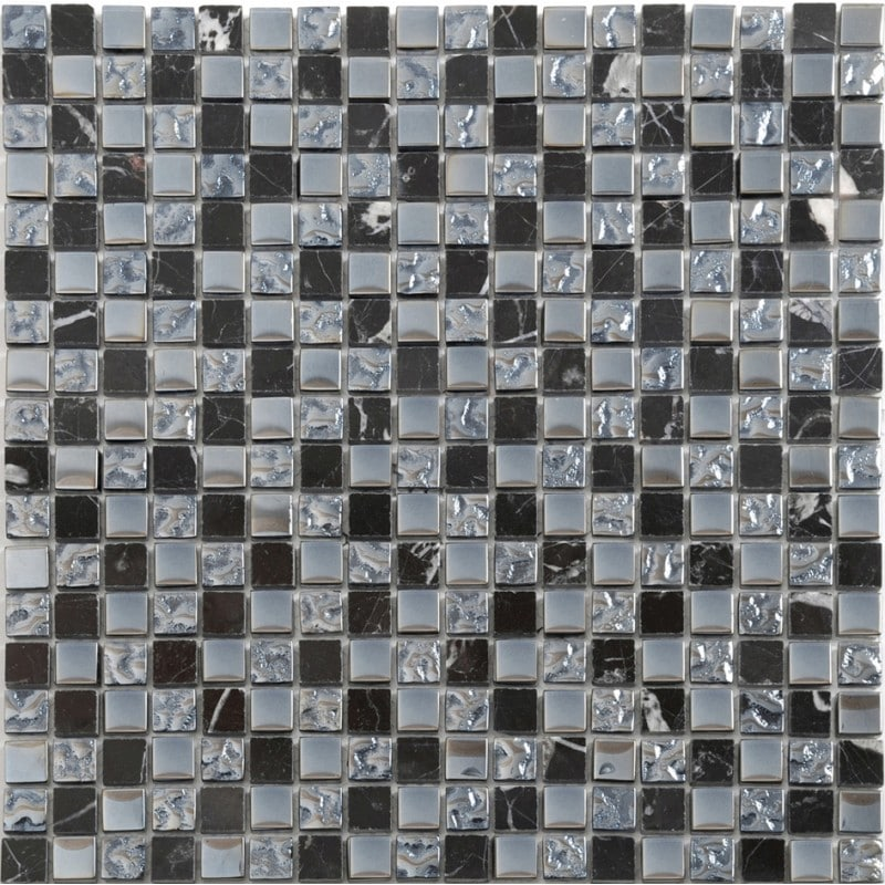 Arredo Kristallmosaik Blank 15x15x8 mm Exclusive Stone Black