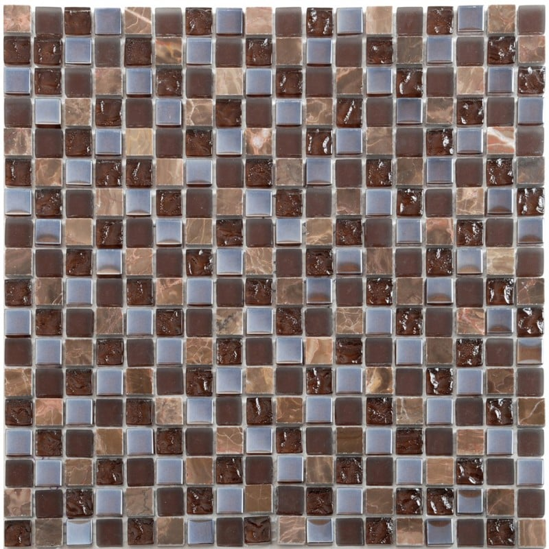 Arredo Kristallmosaik Blank 15x15x8 mm Exclusive Stone Brown