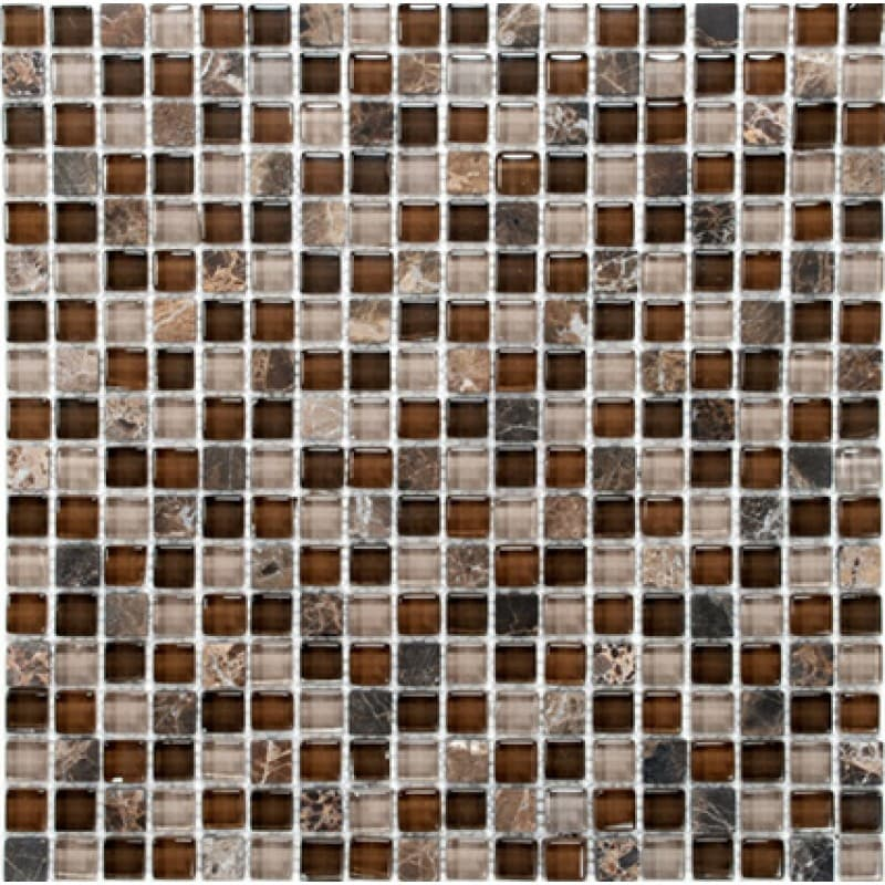 Arredo Kristallmosaik Blank 15x15x8 mm Exclusive Stone Safari