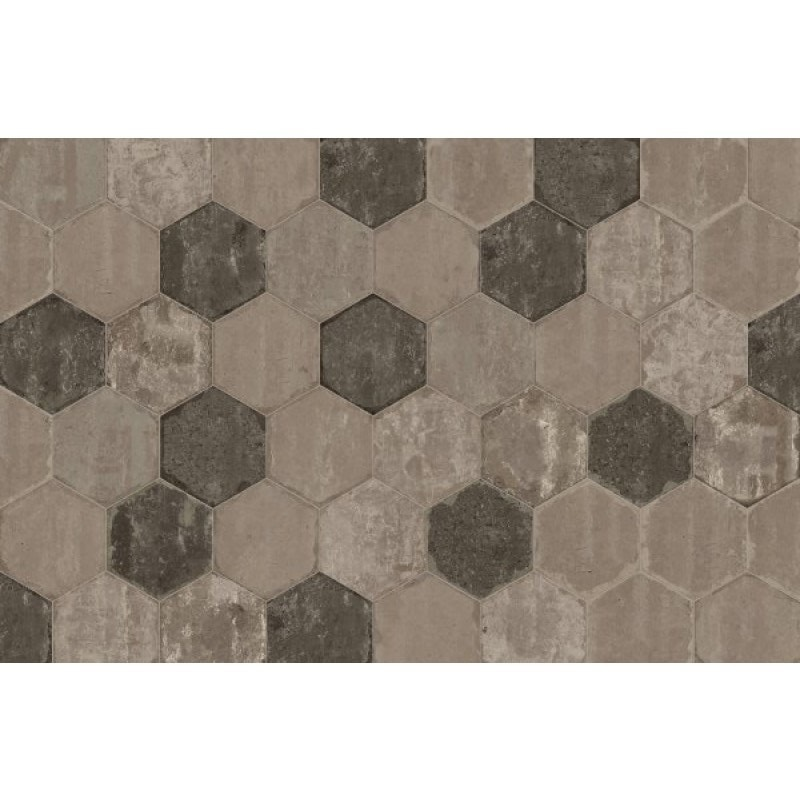 Arredo Marca Corona Bricklane Mix Olive Hexagon 250x216 mm - Klinker