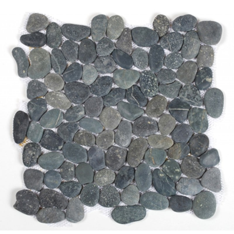 Arredo Natursten Stone Pebble Black (interlock) (300x300)