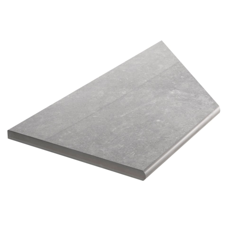 Bricmate Limestone Grey Inner Corner Left 297x596 mm
