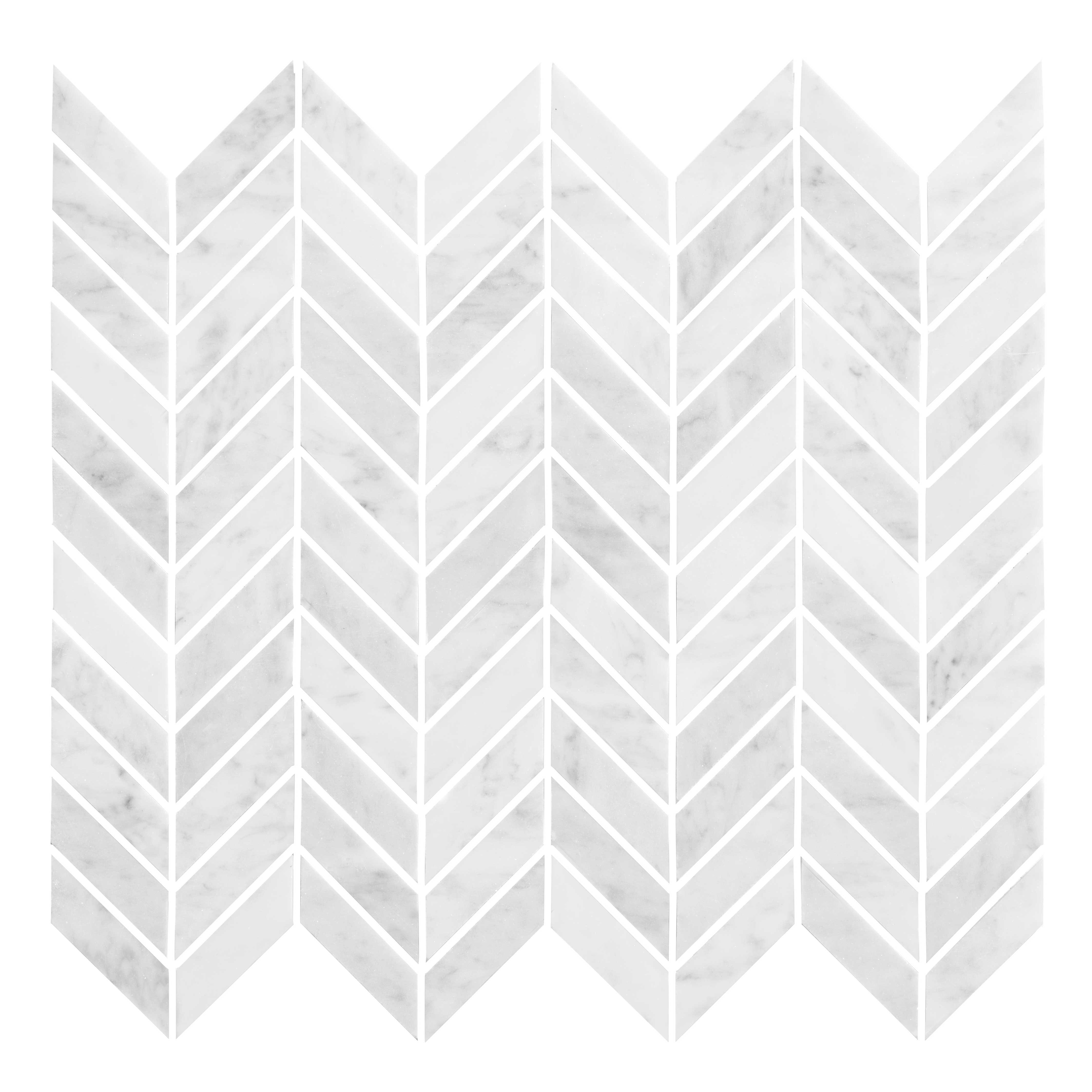 Bricmate Marmor Bianco Carrara U Chevron Polished