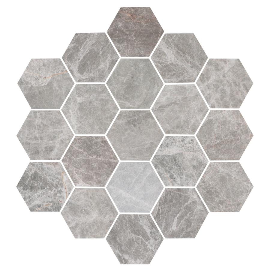Bricmate Marmor U Hexagon Large Grey Honed 100x100 mm