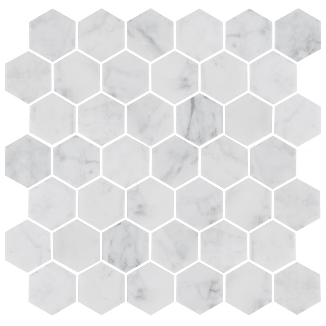 Bricmate Marmor U Hexagon Medium Carrara Honed 50x50mm