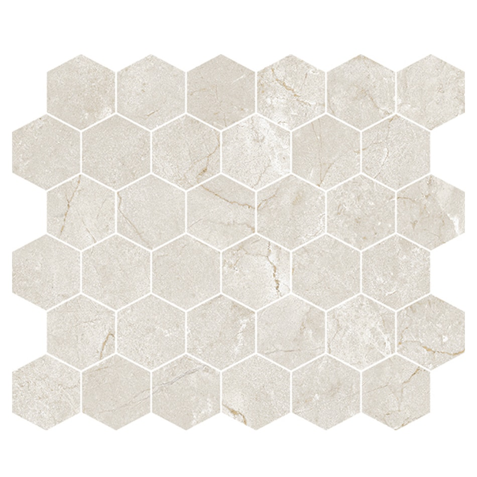 CC Höganäs Bernini Marfil matt hexagon (ark 330x300x8mm)