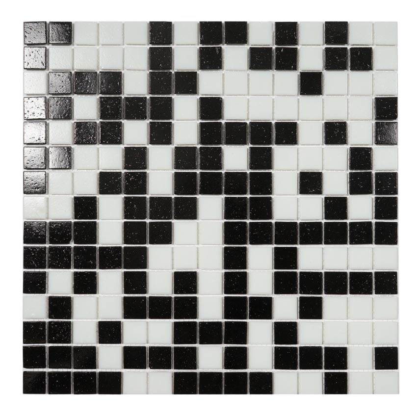 Tilemaster Glasmosaik Black And White 32,7x32,7