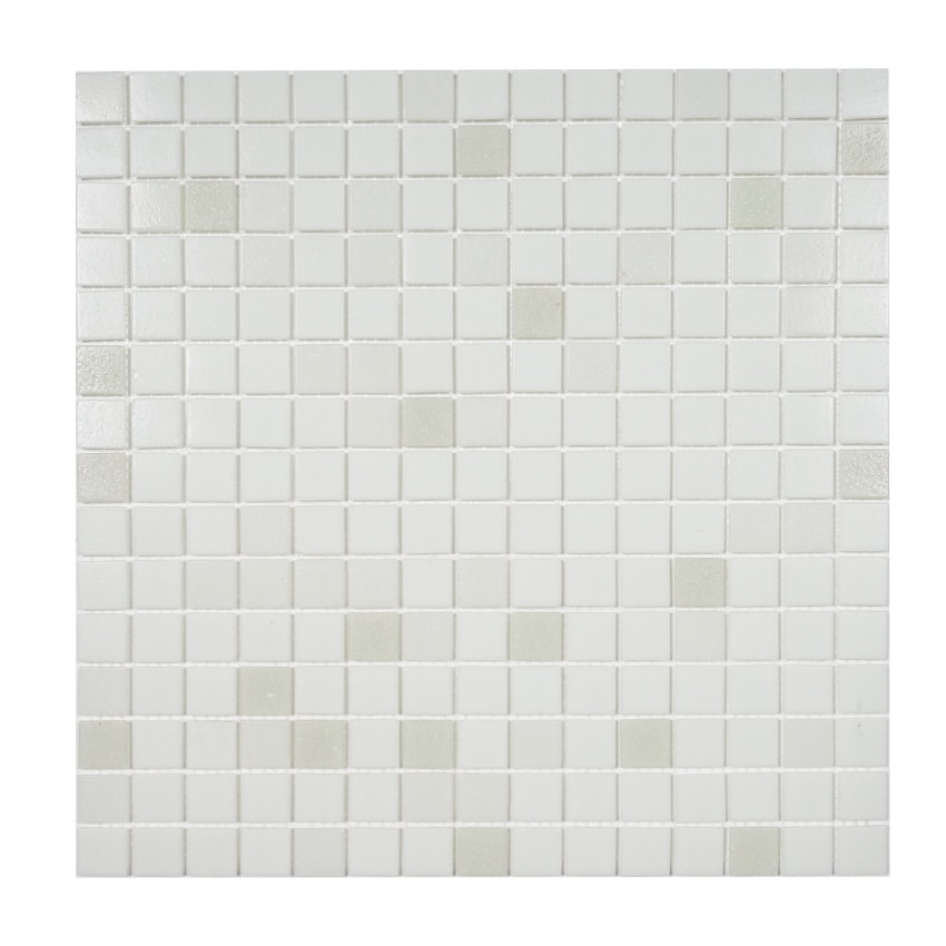 Tilemaster Glasmosaik White Mix 32,7X32,7