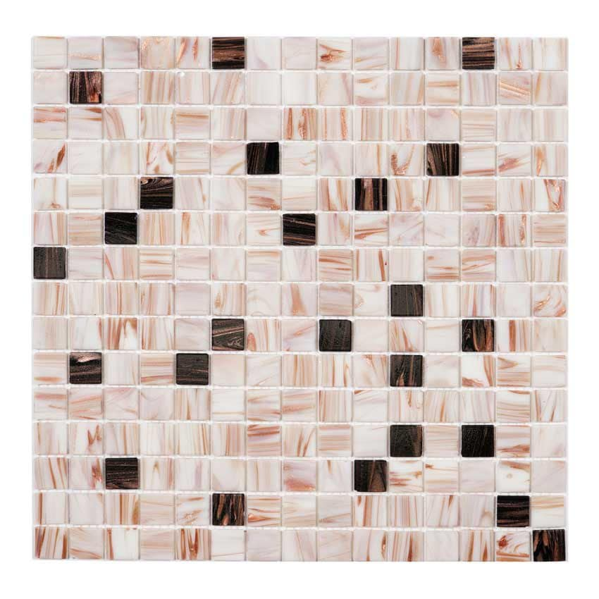 Tilemaster Glasmosaik Bone Mix Gold 32,7x32,7