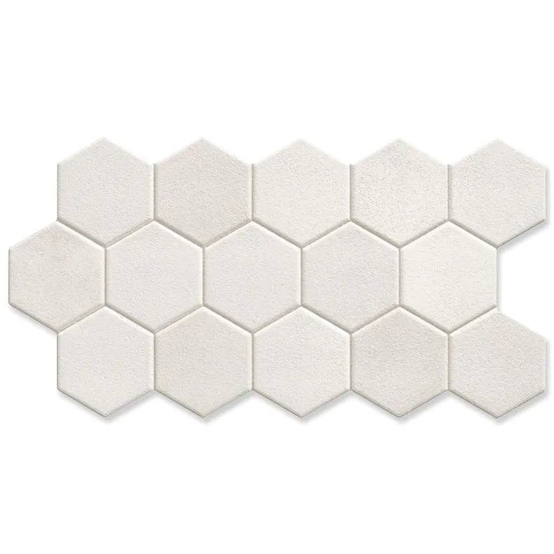 Hill Ceramic Klinker Hex White Vit Matt 27x51 cm