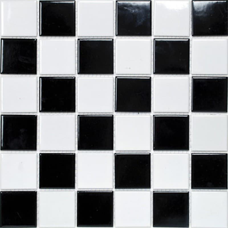 Arredo Klinkermosaik Titan Mix Black/White Blank 48x48 mm (303x303)