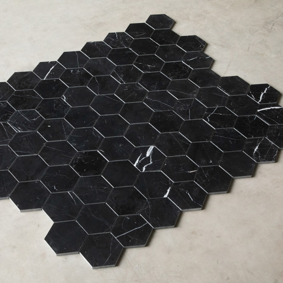 ArtStone Marmor Nero Marquina Polished Hexagon 48x48 mm