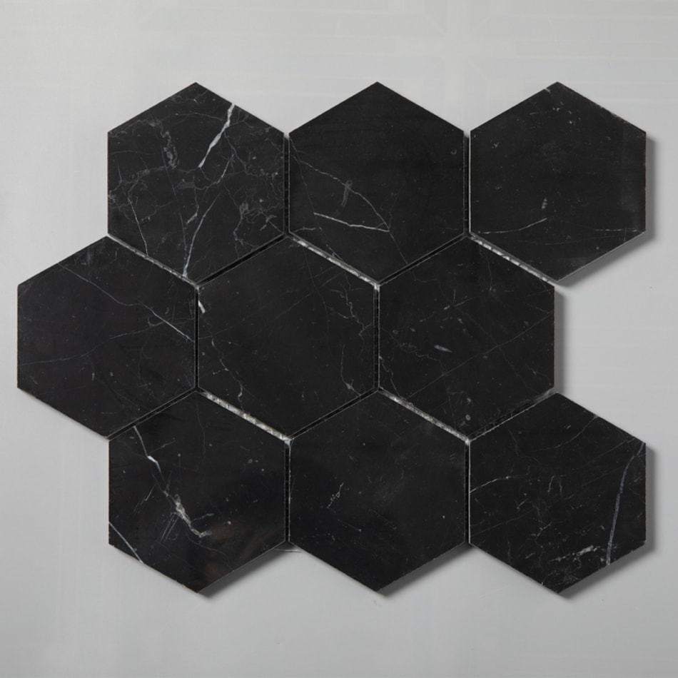 ArtStone Marmor Nero Marquina Polished Hexagon 98x98 mm