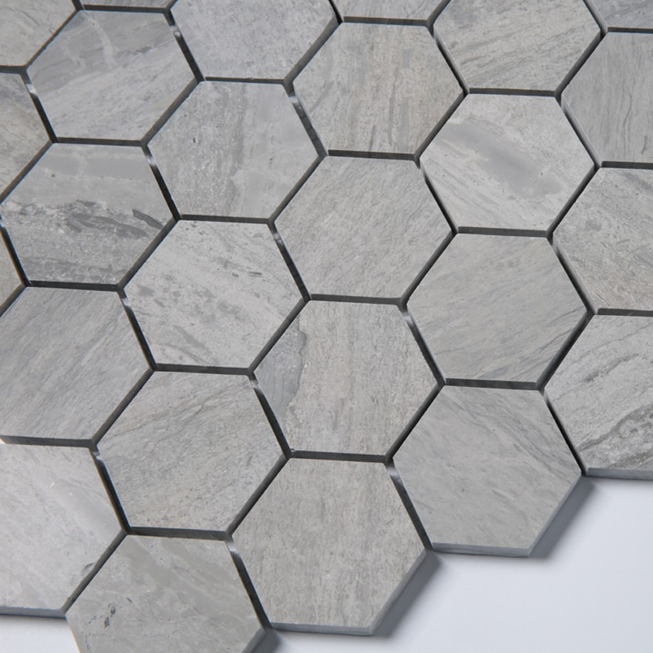 ArtStone Marmor Norway Blue Semipolerad Hexagon 48x48 mm