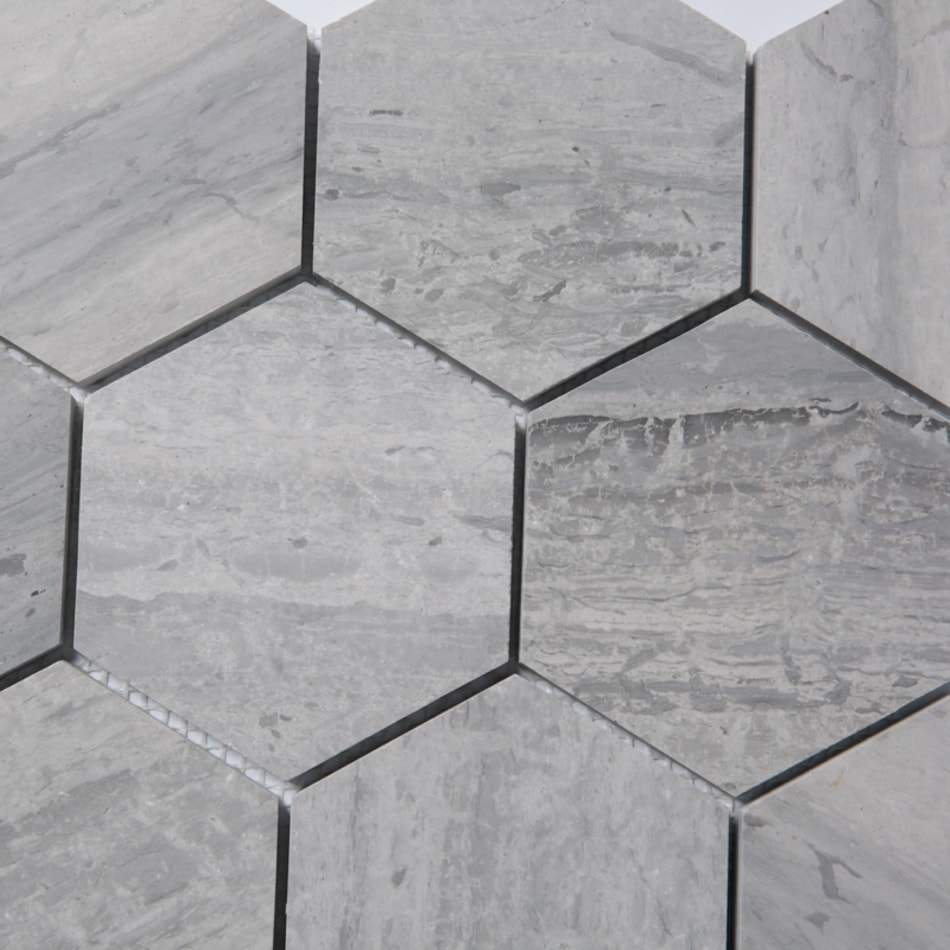 ArtStone Marmor Norway Blue Semipolerad Hexagon 98x98 mm
