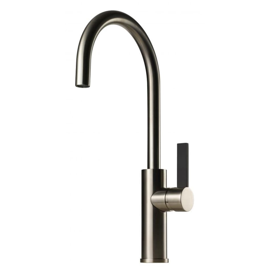 Tapwell Köksblandare ARM180 Brushed Nickel Svart Handtag