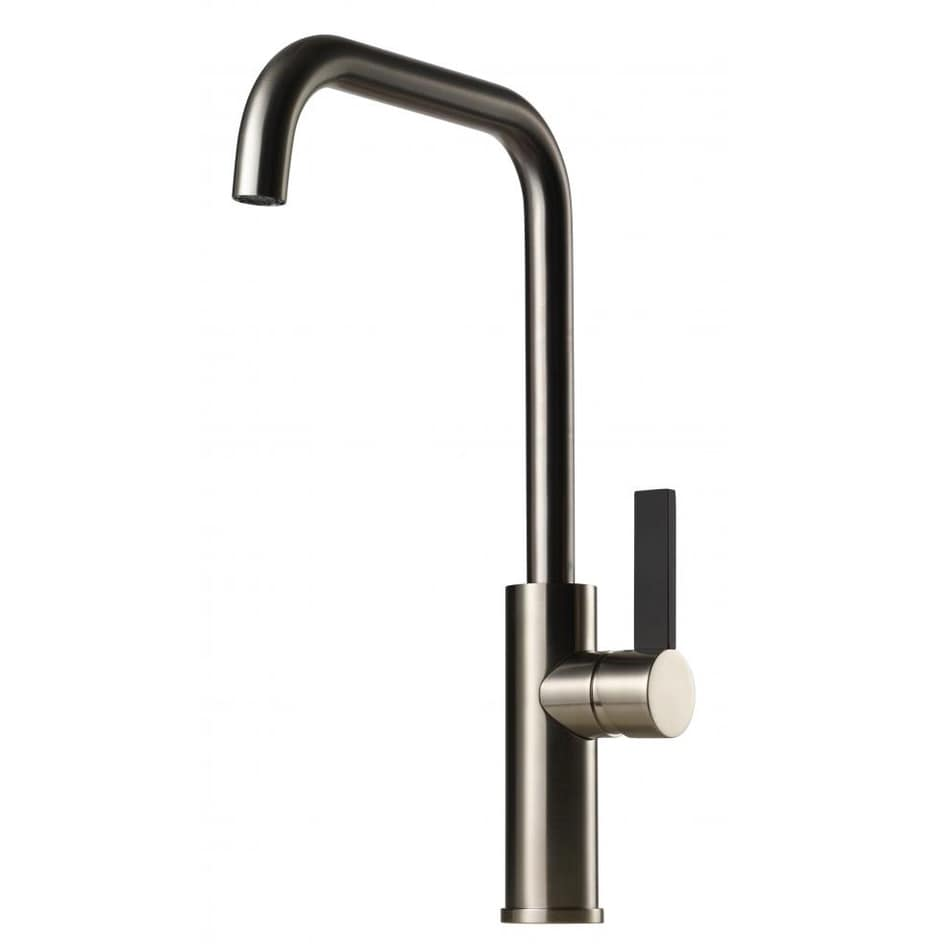 Tapwell Köksblandare ARM980 Brushed Nickel Svart Handtag